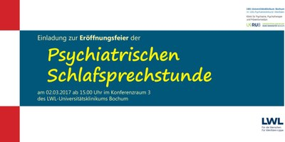 Eröffnungsfeier der Psychiatrischen Schlafsprechstunde